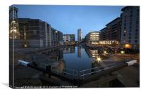 Clarence Dock., Canvas Print