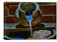 Water Feature in HDR, Canvas Print