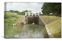 Cane Hill Locks  Old Texture, Canvas Print