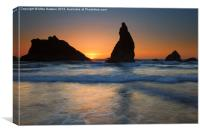 Bandon Sundown, Canvas Print