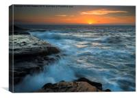 Covered by the Sea, Canvas Print