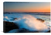 Sunset Wave Explosion, Canvas Print