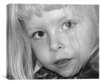 Close Up of Young Girl, Canvas Print