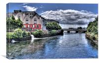 River Corrib, Galway City, Canvas Print