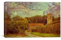 The Old Church Tower, Canvas Print