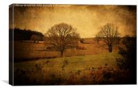 Trees, Fields and Barns, Canvas Print