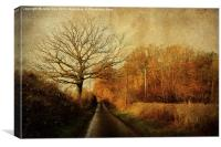 Barningham Road Home., Canvas Print