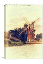 Hunsett drainage mill, Canvas Print