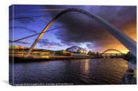 Fine Tyne sunset, Canvas Print