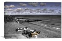 The Beach at Sheringham, Canvas Print