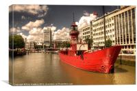 The Red Lightship, Canvas Print