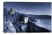 Bottallack in blue, Canvas Print