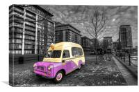 Ice Cream Van in Docklands, Canvas Print