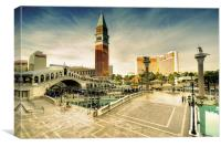 Mirage and the Venitian, Canvas Print