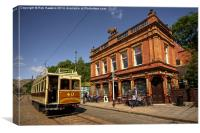 Red Lion Hotel at Crich , Canvas Print