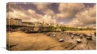 The Harbour at Tenby , Canvas Print