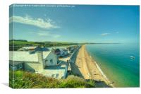 Torcross and Slapton Ley , Canvas Print