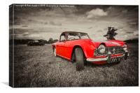 Red TR4 , Canvas Print