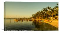 Key Largo Gold , Canvas Print