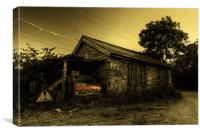 The Peugeot & the Shed, Canvas Print