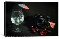 Cosina and Cherry cocktail, Canvas Print