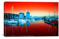 Swansea Red , Canvas Print