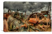 Extreme Scrappage , Canvas Print