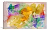 watercolour abstract, Canvas Print