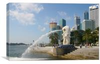 Merlion sculpture in Singapore, Canvas Print