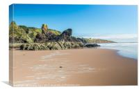 Hen Rock St Cyrus beach, Canvas Print