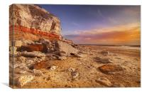 Old Hunstanton Rock, Canvas Print