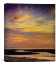 Winding Down the Day, Canvas Print