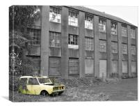 abandoned factory, Canvas Print