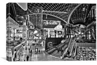 Cabot Circus Shopping Centre Mono, Canvas Print