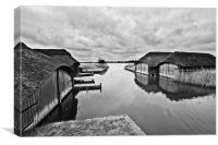 Hickling Boat Houses, Canvas Print