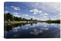 Bure Reflections in Coltishall, Canvas Print