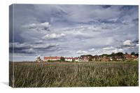 Moody Skies over Cley Windmill, Canvas Print