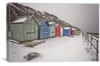 Overstrand in the Snow, Canvas Print