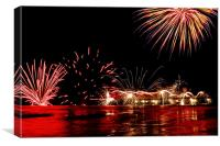 Cromer Pier New Years Fireworks, Canvas Print