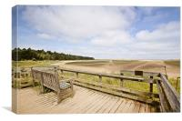 Best Seat in Holkham, Canvas Print