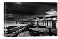 Southwold Pier on a Stormy Day, Canvas Print