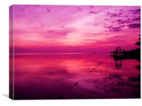 Pink Jamaica Sunrise, Canvas Print