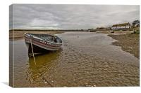 Low tide at Burham Overy Staithe, Canvas Print