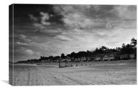 Clouds over the Huts Two Mono, Canvas Print