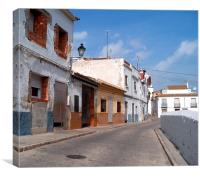 A typical Spanish street, Canvas Print