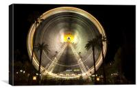 Ferris wheel in Nice, Provence, France, Canvas Print