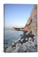 Sunrise at the White Cliffs of Dover, Canvas Print