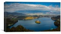 View of Lake Bled from Mala Osojnica, Canvas Print