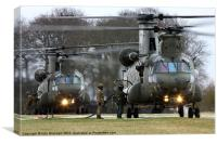 Two Chinooks, Canvas Print