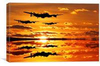 The Training sortie, Canvas Print